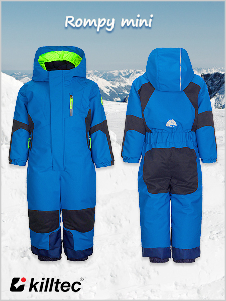 Age 5-6: Rompy Mini boys one-piece ski suit