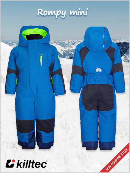 Age 3-8: Rompy Mini boys one-piece ski suit