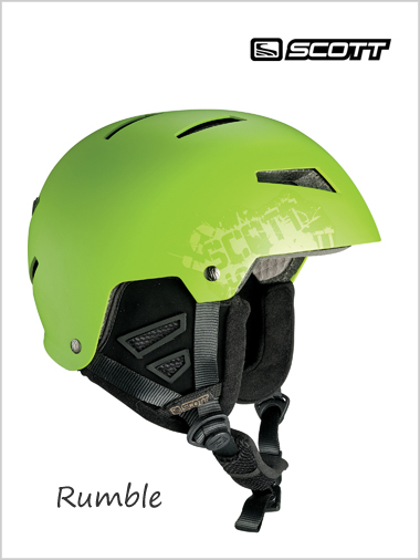 Rumble helmet - green mat