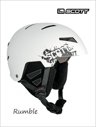 Rumble helmet - white mat