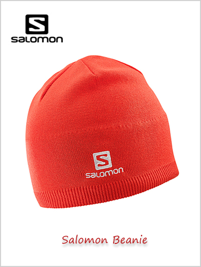 Salomon Beanie - Fiery Red