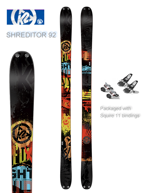 Shreditor 92 skis and Marker Squire 11 bindings