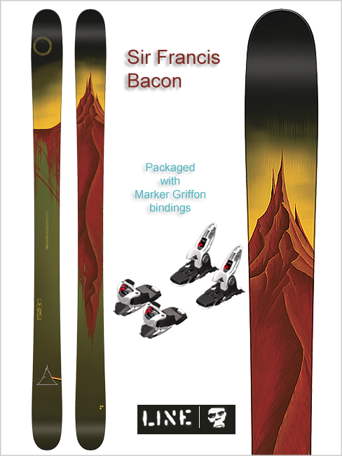 Sir Francis Bacon skis and Marker Griffon bindings