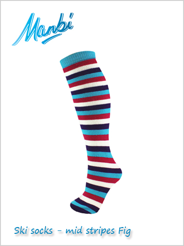 Junior Thermal ski tube socks - fig stripes