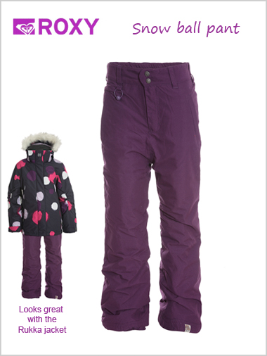 Ages 10: Snow ball pants - purple