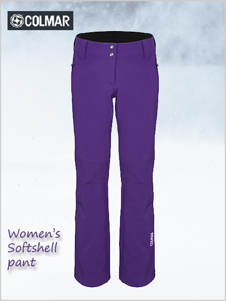 Women's softshell pant - deep purple