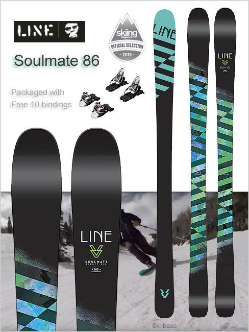 Soulmate 86 skis with Free Ten bindings