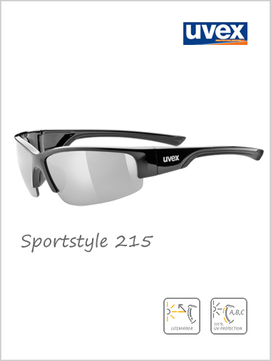 Sportstyle 215 silver mirror sunglasses - cat 3