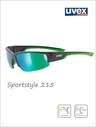 Sportstyle 215 sunglasses (green mirror lens) - cat 3