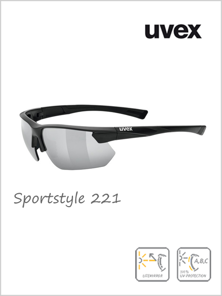 Sportstyle 221 sunglasses (silver mirror lens) - cat 3
