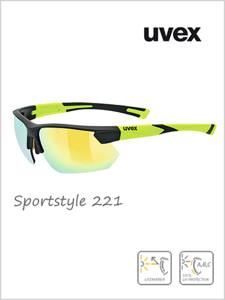 Sportstyle 221 sunglasses (yellow mirror lens) - cat 3