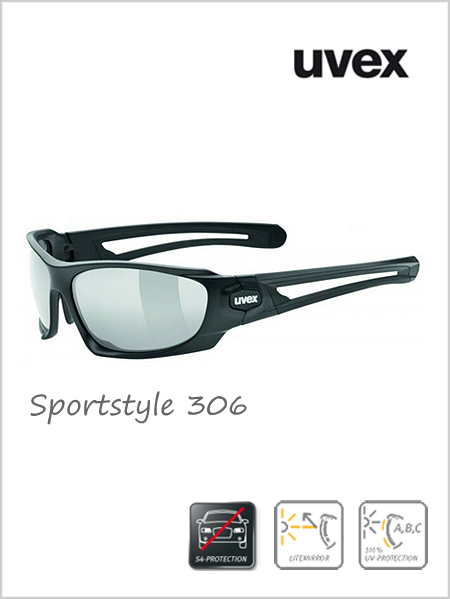 Sportstyle 306 sunglasses (silver mirror lens) - cat 4