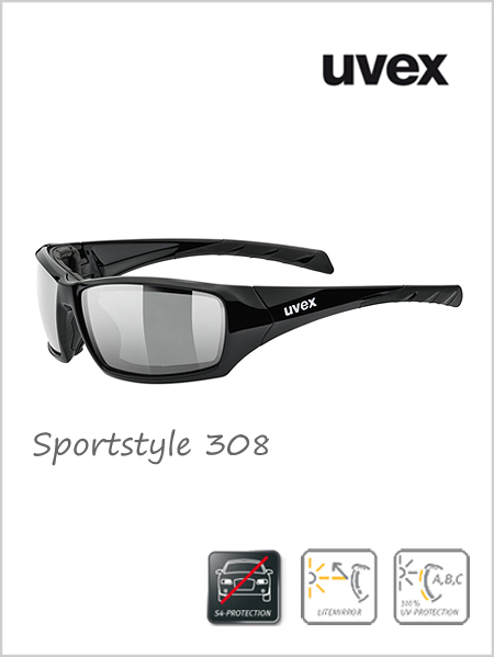 Sportstyle 308 sunglasses (silver mirror lens) - cat 4