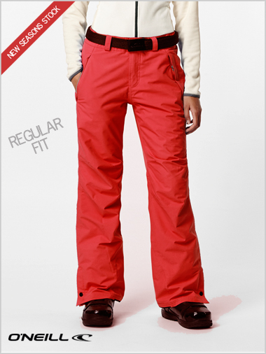 Star pants - poppy red