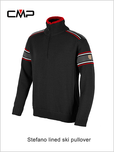 Stefano striped arm sweater (wind proof) - black