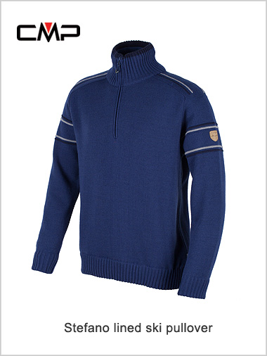 Stefano striped arm sweater (wind proof) - nautico
