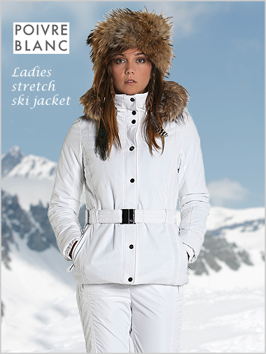 Ladies Stretch Ski Jacket Fake Fur Only Uk 14 Now Left By