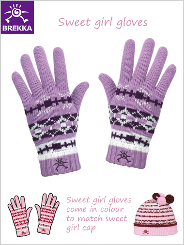 Sweet girl gloves