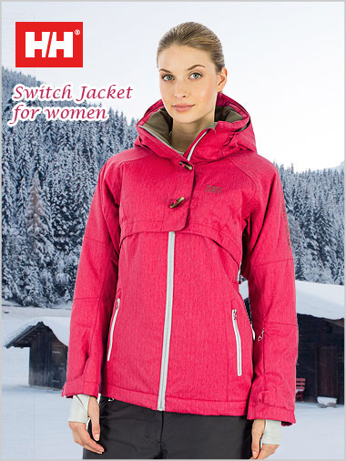 Switch Jacket in Raspberry Red for women