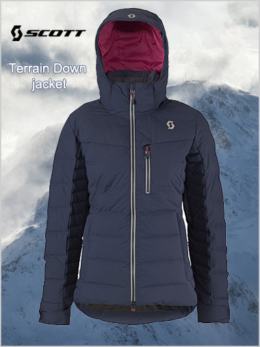 Terrain Down jacket - Blue nights
