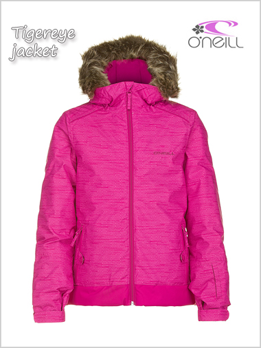 Ages 10: Tigereye jacket - raspberry