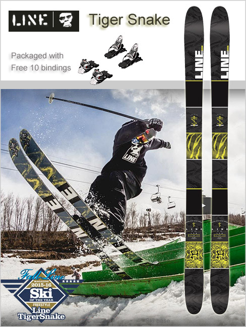 Tigersnake skis and Marker Free Ten bindings