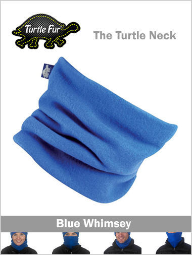 Turtle fur neck - blue whimsey