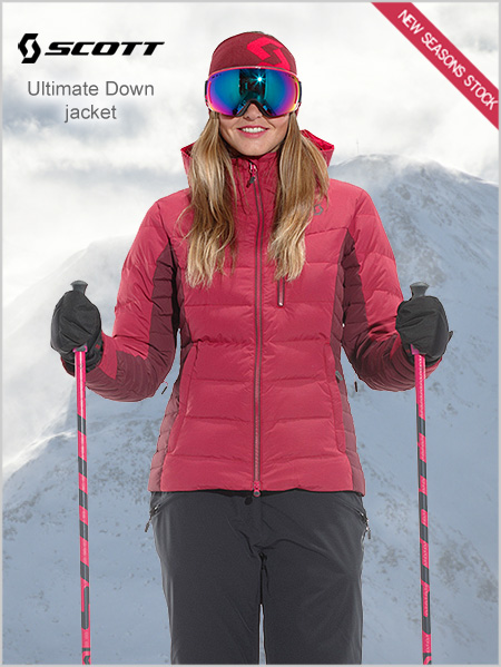 Ultimate Down jacket W - Ruby red