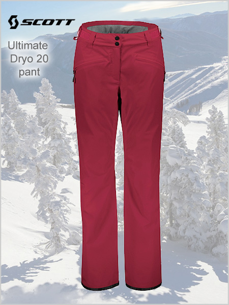 Ultimate Dryo 20 pant W - Mahogany red