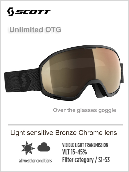 Unlimited OTG goggle - light sensitive bronze chrome lens