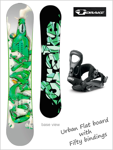 Urban flat board and Fifty binding package