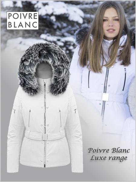 2d4c627a8 Monique stretch ski jacket (fake fur) · Poivre Blanc ...
