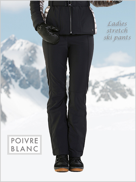Ladies stretch ski pants (black) - short and regular fitting