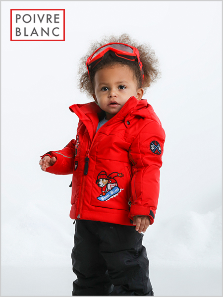 Age 4-7: Funny Scarlet Red ski jacket