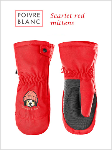 Child: Scarlet red mittens (ages 4)