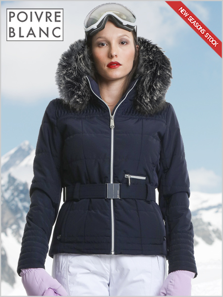 Isabelle II ski jacket (fake fur) gothic blue