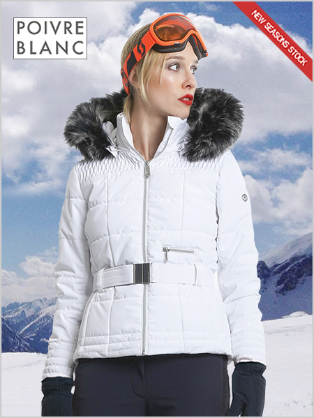 Isabelle II ski jacket (fake fur) white
