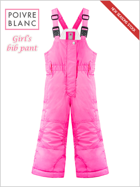 Age 4-7: girls bib pant (Candy Pink)