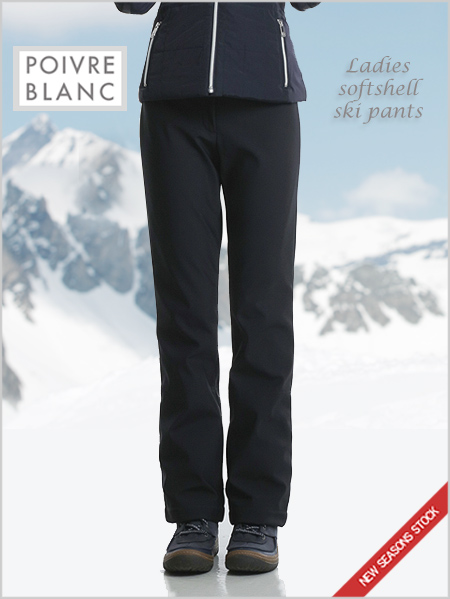 Ladies softshell ski pants black
