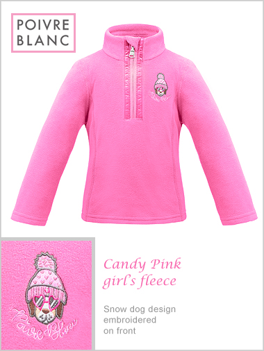 Child / Junior - Candy Pink girl's fleece (only 6Y now left)