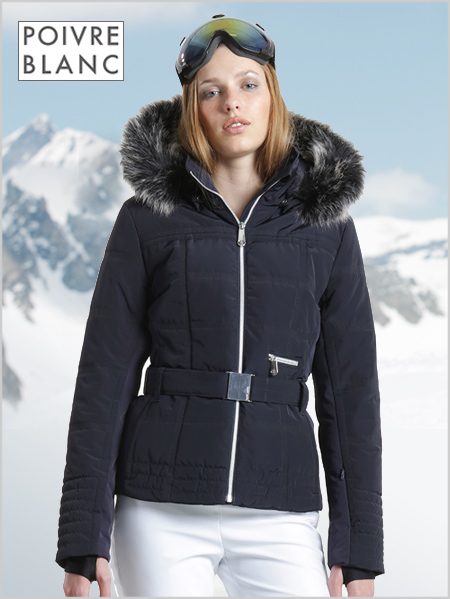Jacqueline ski jacket (fake fur) - Gothic blue