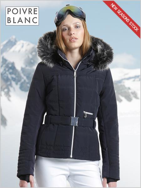 0bf78319b5 Jacqueline ski jacket (fake fur) - Gothic blue