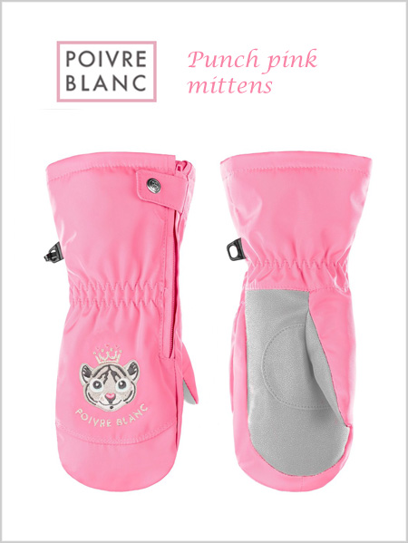 Child: Girl's Punch Pink mittens (age 2-7)