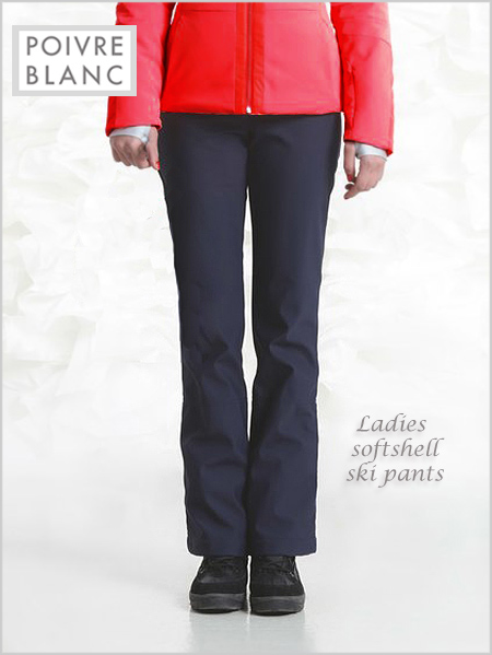 Ladies softshell ski pants - Gothic blue