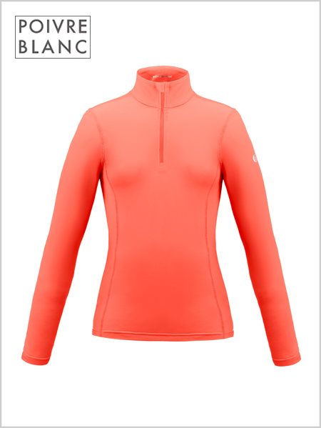 Poivre Blanc stretch ski top - nectar orange