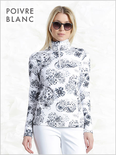Poivre Blanc stretch ski top - snowy white