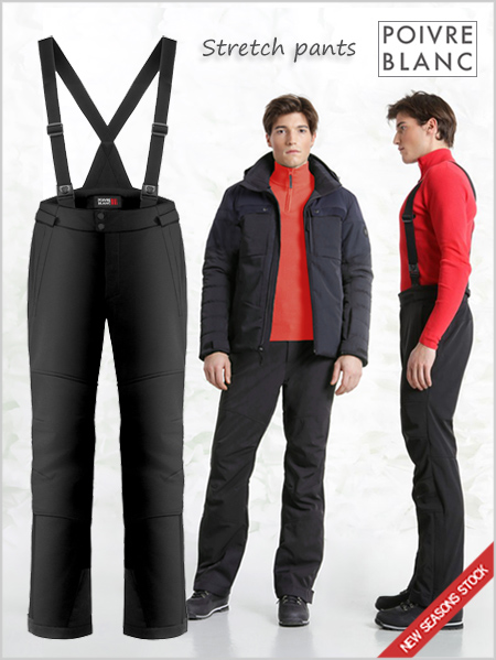 Fred stretch ski pants - Black