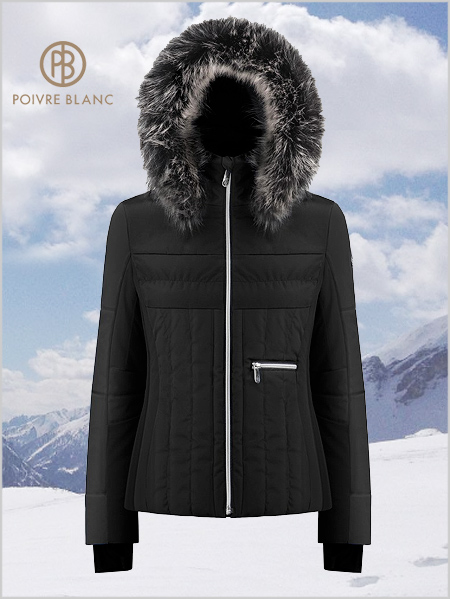 Colette ski jacket (fake fur) - Black