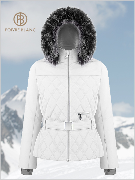 Nadine ski jacket (fake fur) - White