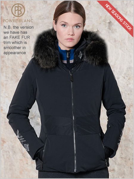 Audrey stretch ski jacket (fake fur)